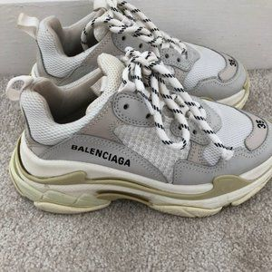 Balenciaga Triple S Sneaker White & Beige Size 35